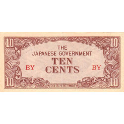 Birmanie - Pick 11a - 10 cents - Série BY - 1942 - Etat : SUP