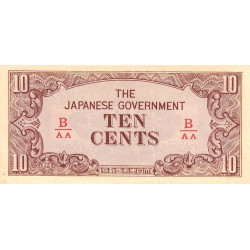 Birmanie - Pick 11b - 10 cents - 1942 - Etat : SUP