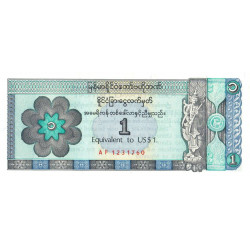 Myanmar - Pick FX 1 - Equivalent 1 dollar - Série AF - 1993 - Etat : NEUF