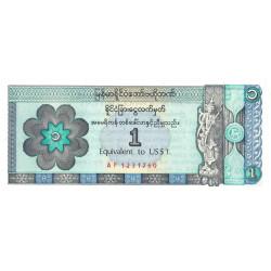 Myanmar - Pick FX 1 - Equivalent 1 dollar - 1993 - Etat : NEUF