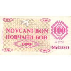 Bosnie Herzegovine - Pick 6g - 100 dinara - 11/08/1992 - Etat : TTB+