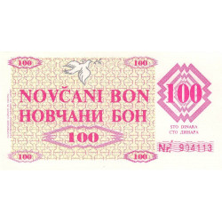Bosnie Herzegovine - Pick 6r - 100 dinara - 1992 - Etat : NEUF