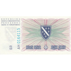 Bosnie Herzegovine - Pick 39 - 1 dinar - 15/08/1994 - Etat : NEUF