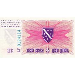 Bosnie Herzegovine - Pick 41 - 10 dinara - 15/08/1994 - Etat : NEUF