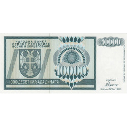 Bosnie Herzegovine - Pick 139 - 10'000 dinara - 1992 - Etat : NEUF