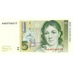 Allemagne RFA - Pick 37 - 5 deutsche mark - 01/08/1991 - Etat : pr.NEUF