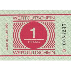 Allemagne RDA - Bon des prisons - 1 pfennig - 1990 - Etat : NEUF