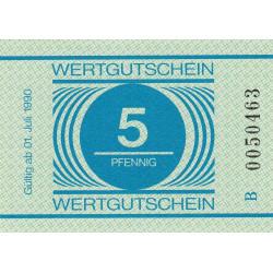 Allemagne RDA - Bon des prisons - 5 pfennig - 1990 - Etat : NEUF