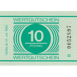 Allemagne RDA - Bon des prisons - 10 pfennig - 1990 - Etat : NEUF