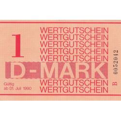Allemagne RDA - Bon des prisons - 1 mark - 1990 - Etat : NEUF