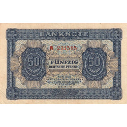 Allemagne RDA - Pick 8a - 50 pfennig - 1948 - Etat : TTB