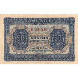 Allemagne RDA - Pick 8a_1 - 50 pfennig - 1948 - Etat : TTB