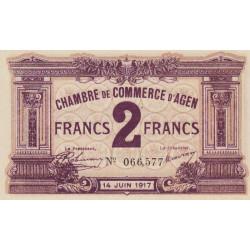 Agen - Pirot 2-11 - 2 francs - 1917 - Etat : SPL