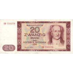 Allemagne RDA - Pick 24a - 20 mark der Deutschen Notenbank - 1964 - Etat : TTB