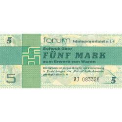 Allemagne RDA - Pick FX 3 - 5 mark - Série AJ - 1979 - Etat : NEUF