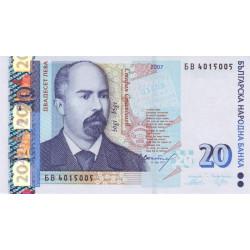 Bulgarie - Pick 118b - 20 leva - 2007 - Etat : NEUF