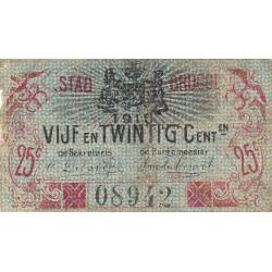 Belgique - Bruge - BR194 - 25 centimes - 01/06/1915 - Etat : TB