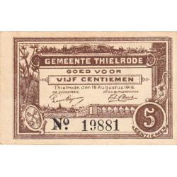 Belgique - Thielrode - BR194 - 25 centimes - 12/08/1916 - Etat : SPL