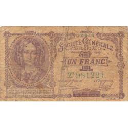 Belgique - Pick 86b - 1 franc - 1918 - Etat : B