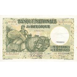 Belgique - Pick 106_5 - 50 francs ou 10 belgas - 03/01/1944 - Etat : TTB
