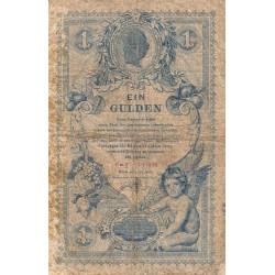 Autriche - Pick A156 - 1 gulden - 01/07/1888 - Etat : B