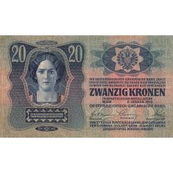 Autriche - Pick 13 - 20 kronen - 02/01/1913 - Etat : TB+
