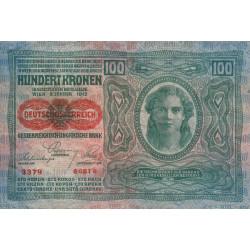Autriche - Pick 56_1 - 100 kronen - 1919 - Etat : TB+