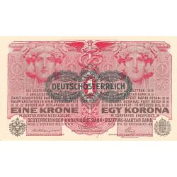 Autriche - Pick 49 - 1 krone - 1919 - Etat : SPL