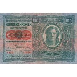 Autriche - Pick 56_1 - 100 kronen - 1919 - Etat : TTB
