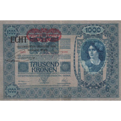 Autriche - Pick 58 - 1'000 kronen - 1919 - Etat : TTB