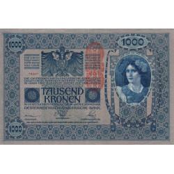 Autriche - Pick 59 - 1'000 kronen - 1919 - Etat : SUP