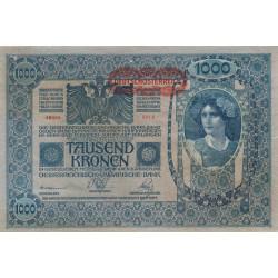 Autriche - Pick 60 - 1'000 kronen - 1919 - Etat : TTB