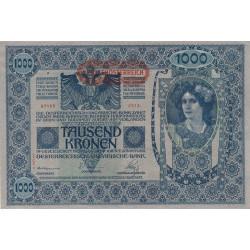 Autriche - Pick 61_2 - 1'000 kronen - 1919 - Etat : SUP