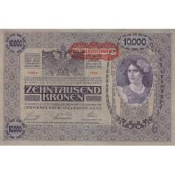 Autriche - Pick 65 - 10'000 kronen - 1919 - Etat : SUP