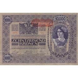 Autriche - Pick 65 - 10'000 kronen - 1919 - Etat : TB
