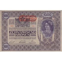 Autriche - Pick 66 - 10'000 kronen - 1919 - Etat : SPL