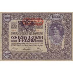 Autriche - Pick 66 - 10'000 kronen - 1919 - Etat : TB