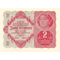Autriche - Pick 74 - 2 kronen - 02/01/1922 - Etat : NEUF