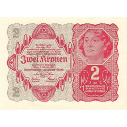 Autriche - Pick 74 - 2 kronen - 1922 - Etat : NEUF