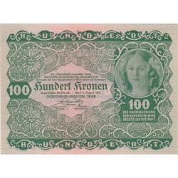 Autriche - Pick 77 - 100 kronen - 1922 - Etat : SUP+