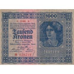 Autriche - Pick 78_1 - 1'000 kronen - 1922 - Etat : TTB