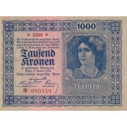 Autriche - Pick 78_1 - 1'000 kronen - 1922 - Etat : SUP