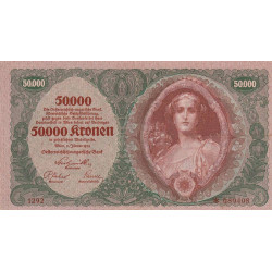 Autriche - Pick 80_2 - 50'000 kronen - 02/01/1922 - Etat : SUP