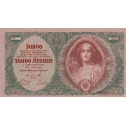 Autriche - Pick 80_2 - 50'000 kronen - 1922 - Etat : SUP