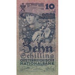 Autriche - Pick 94 - 10 shilling - 05/011927 - Etat : TTB+