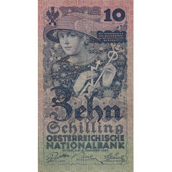 Autriche - Pick 94 - 10 shilling - 1927 - Etat : TTB+