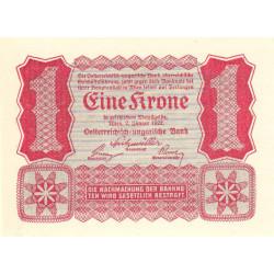 Autriche - Pick 73 - 1 krone - 02/01/1922 - Etat : NEUF