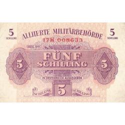 Autriche - Pick 105 - 5 shilling - 1944 - Etat : TB+