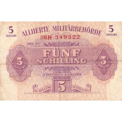 Autriche - Pick 105 - 5 shilling - 1944 - Etat : TB-