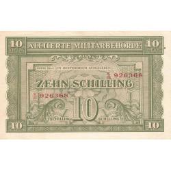 Autriche - Pick 106 - 10 shilling - 1944 - Etat : SUP